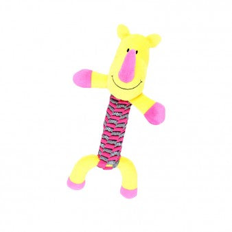 Chomper Neon Belt Braided Body Dog Toy