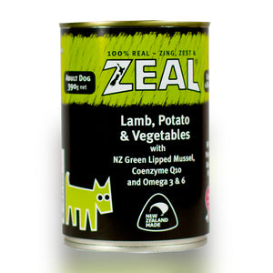 Zeal Dog Wet Food - Lamb, Potato & Vegetables 390g