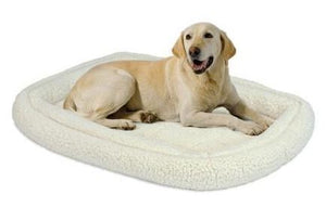 Midwest Quiet Time Deluxe Fleece Double Bolster Pet Bed.