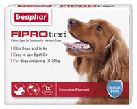 Beaphar Fiprotrec for Medium Dogs - 4 Vials
