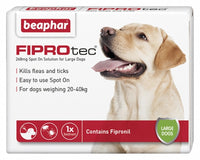 Beaphar Fiprotrec for Large Dogs - 4 Vials