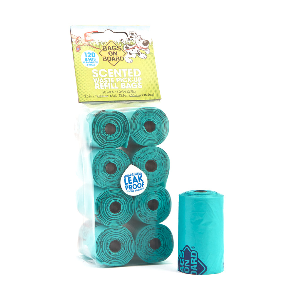 Bags On Board Refill Bags Scented Green Roll 120 Bags(8x15)