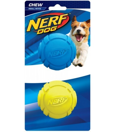 Nerf Rubber Curve Ball Blue/Green - Small (pack of 2)