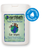 Earthbath Ear Wipes- 25 wipes
