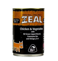 Zeal Dog Wet Food - Chicken & Vegetables 390g