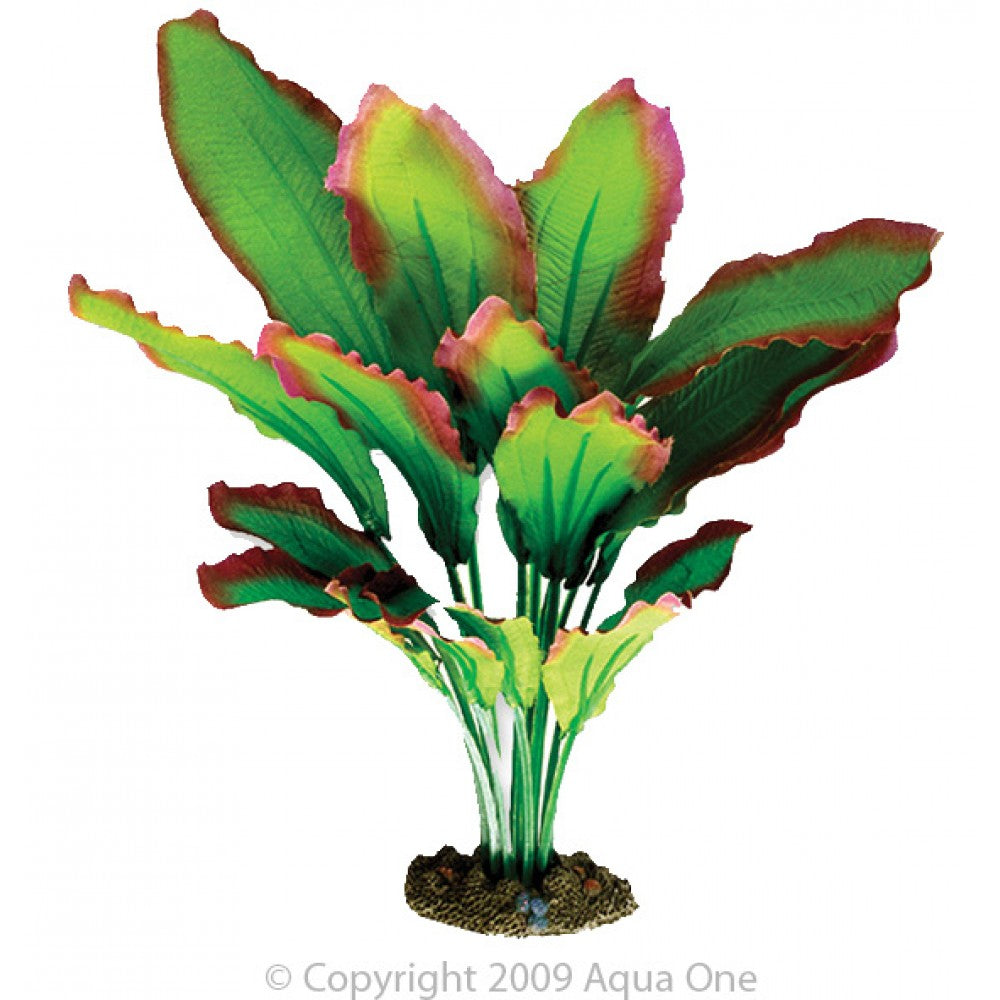 Aqua One Silk Plant-Amazon Red/Green