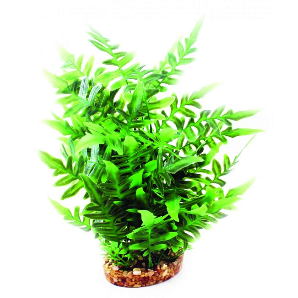 Aqua One Vibrance - Green Fern With Gravel Base (L)