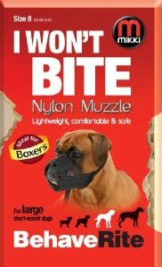 Mikki Nylon Dog Muzzle for Boxer Breed