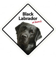 Black Labrador On Board Sign