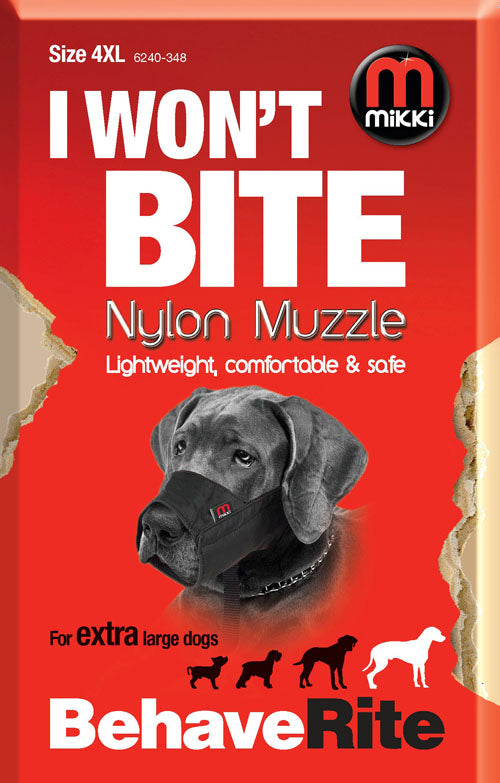 Mikki Nylon Dog Muzzle Size 4-XL