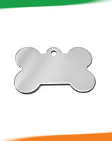 IMARC Pet Tag BONE CHROME PLATED BRASS