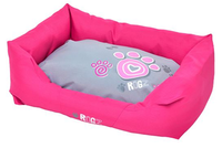 Rogz Spice Pod Bed- Pink Paws- Pink and Grey Pod