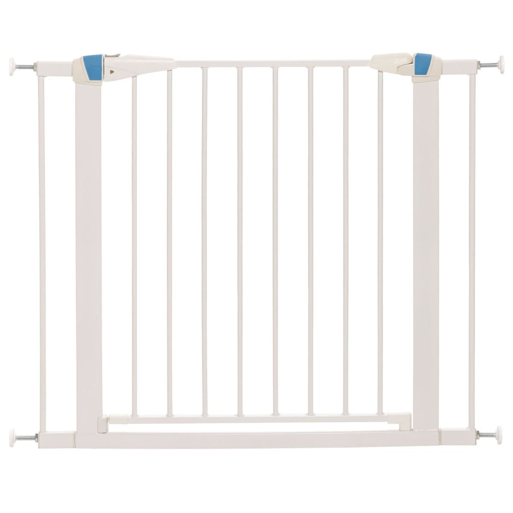 "Midwest 29"" Tall White Glow in the Dark Steel Pet Gate"