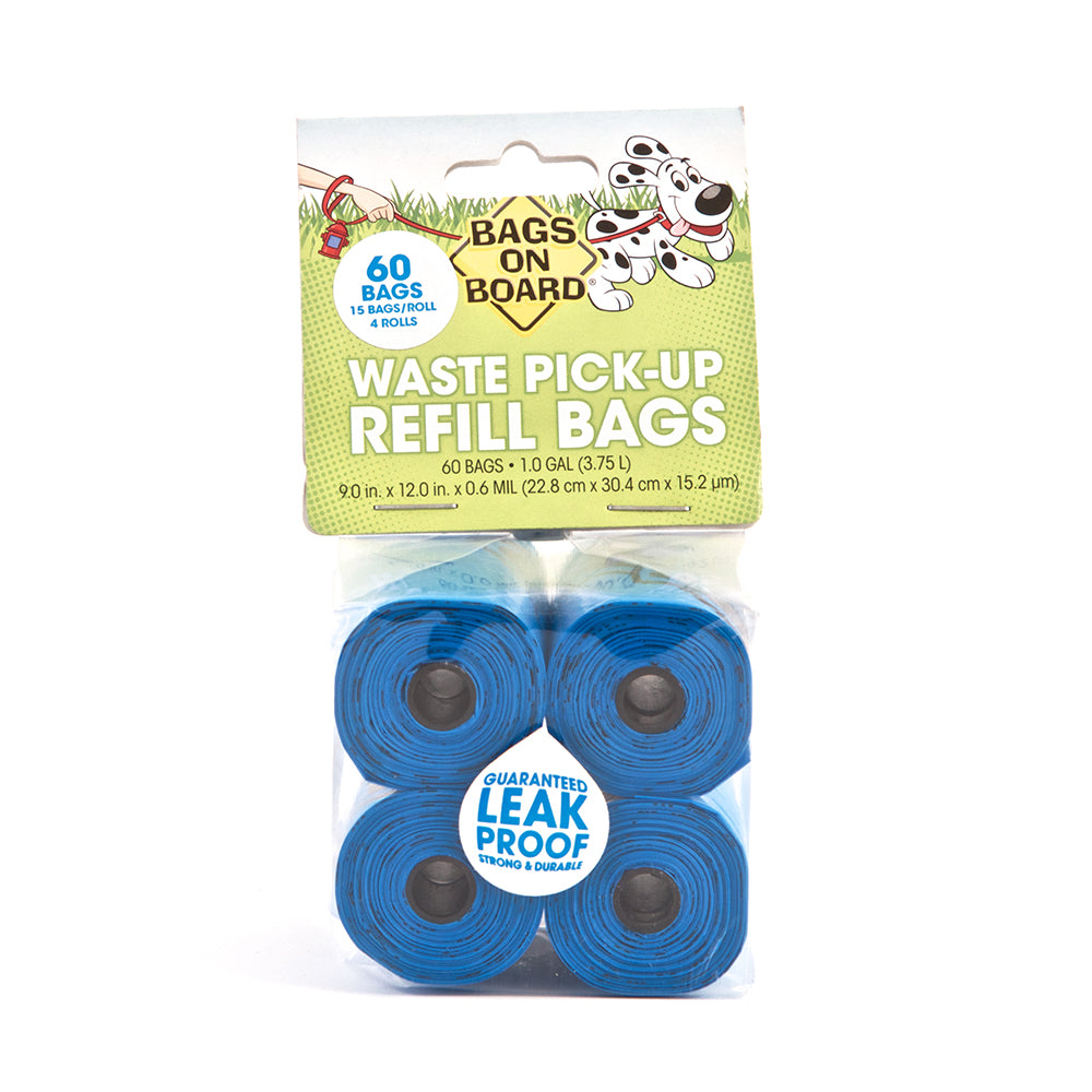 Bags On Board Refill Bags - Blue 60 Bags (4x15)