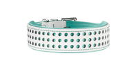 Hunter Collar Marbella White/ Turquoise