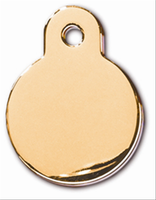 ID Tag- Circle Small Gold