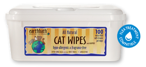 Earthbath Hypo-Allergenic Cat Wipes with Awapuhi- 100 wipes