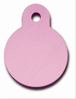 ID Tag-Circle Small Light Pink