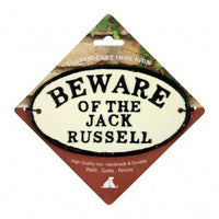 Beware Of The Jack Russell Cast Iron Oval