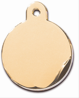 ID Tag- Circle Large Gold