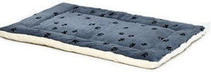 Midwest Fleece/Blue Paw Print Reversible Bed