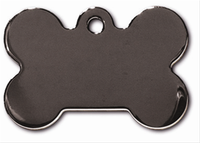 ID Tag- Bone Smokey Black