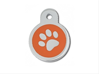 ID Tag- Circle Small Epoxy Paw