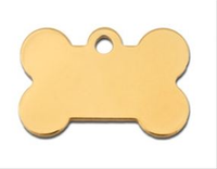 ID Tag- Bone Small Gold