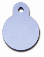 ID Tag-Circle Small Light Blue