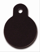 ID Tag- Circle Small Black