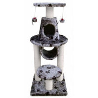 Fauna Bonalti Cat Play Tower - Grey with Paw Print