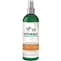 Vets Best Natural Anti-Flea Easy Spray Shampoo (16 oz)