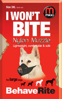 Mikki Nylon Dog Muzzle Size 3-XL