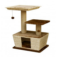 Fauna Villa Cat Play Lounge - Light Brown