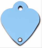 ID Tag- Diva Heart Small Turquoise
