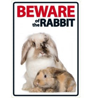 Beware Of The Rabbit Sign