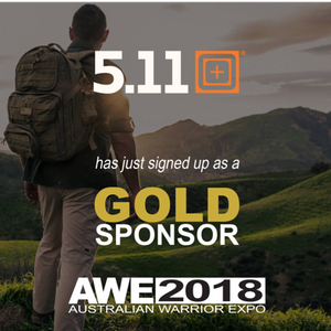 5.11 Tactical Australia AWE2018 Gold Sponsor