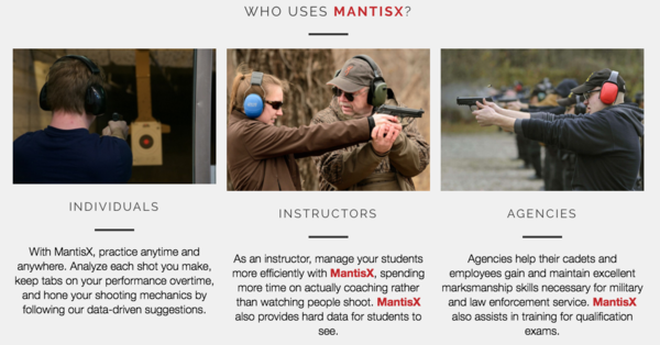 Firearms training, Firearms training system, MantisX, Outdoor Tactical