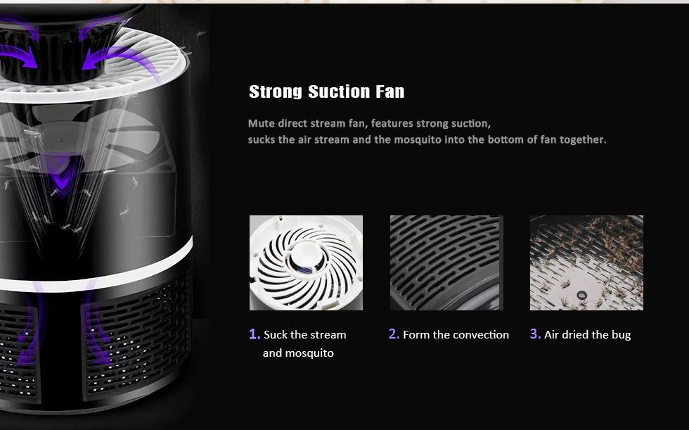 Electric Lamp LED Mosquito Killer Bug Zapper