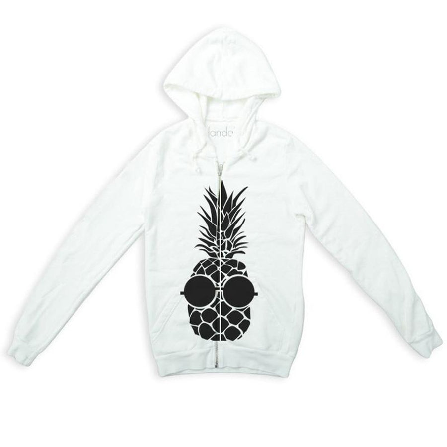 "Sweatshirt Con Zip ""Ananas"" Top"