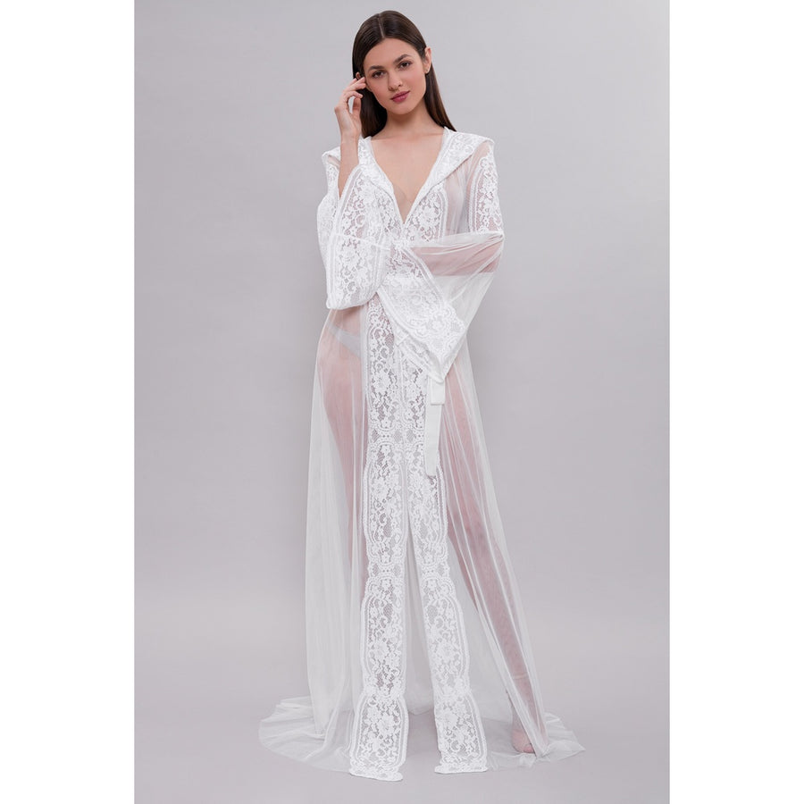 Long Tulle Bridal Robe F15