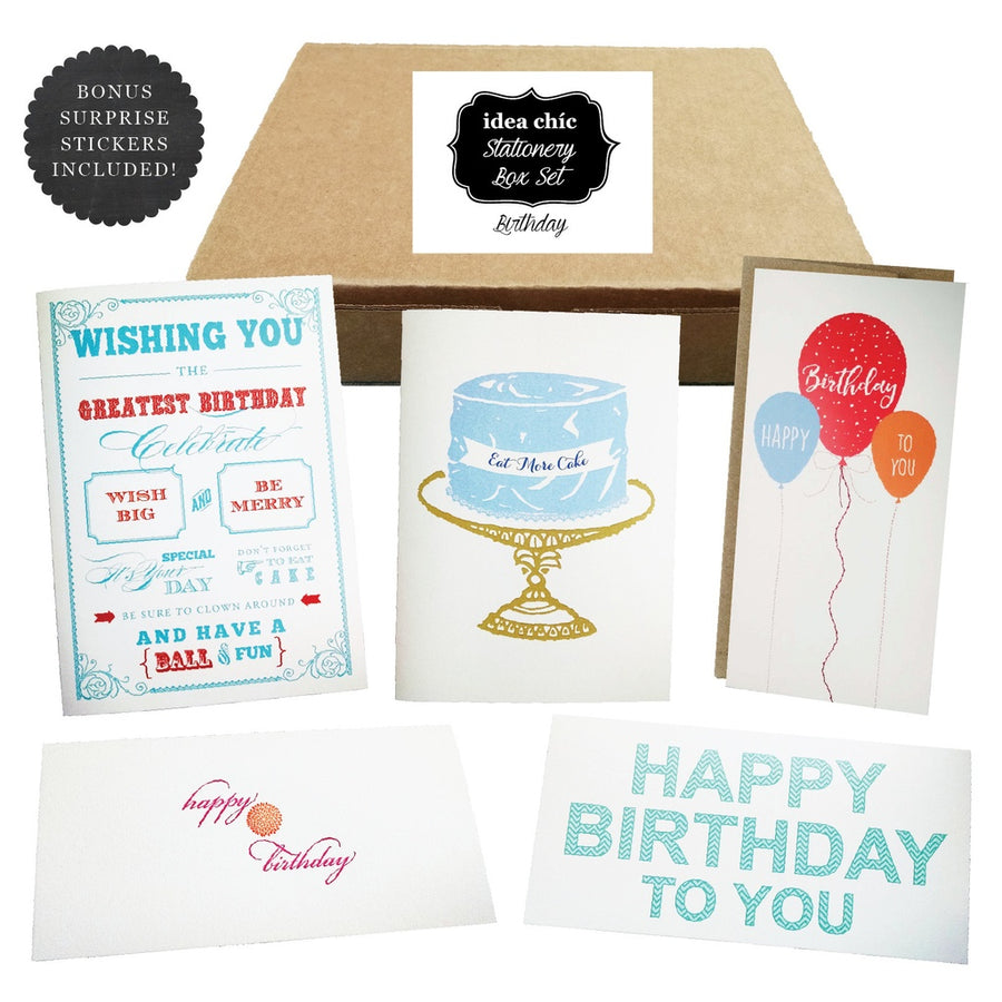 Birthday Celebration - Idea Chic Stationery Box Set