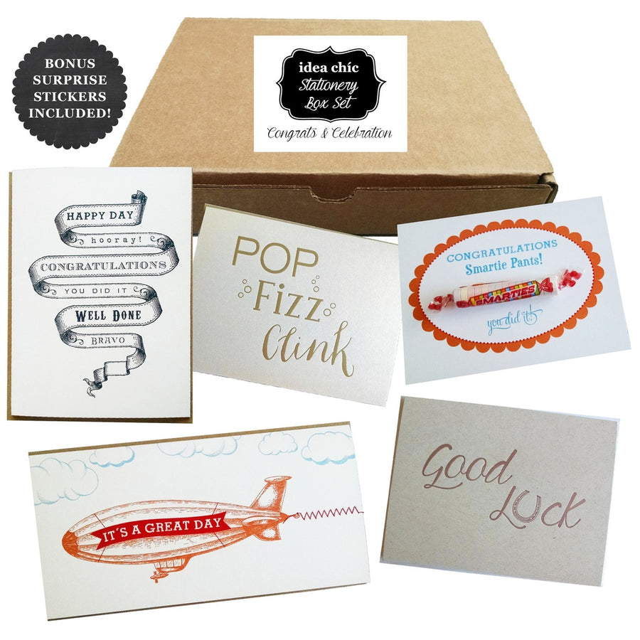 Congratulations and Celebration Cards - Idea Chic Stationery Box Set