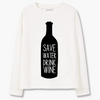 "Sweatshirt ""Save Water, Drink Wine"" Top"