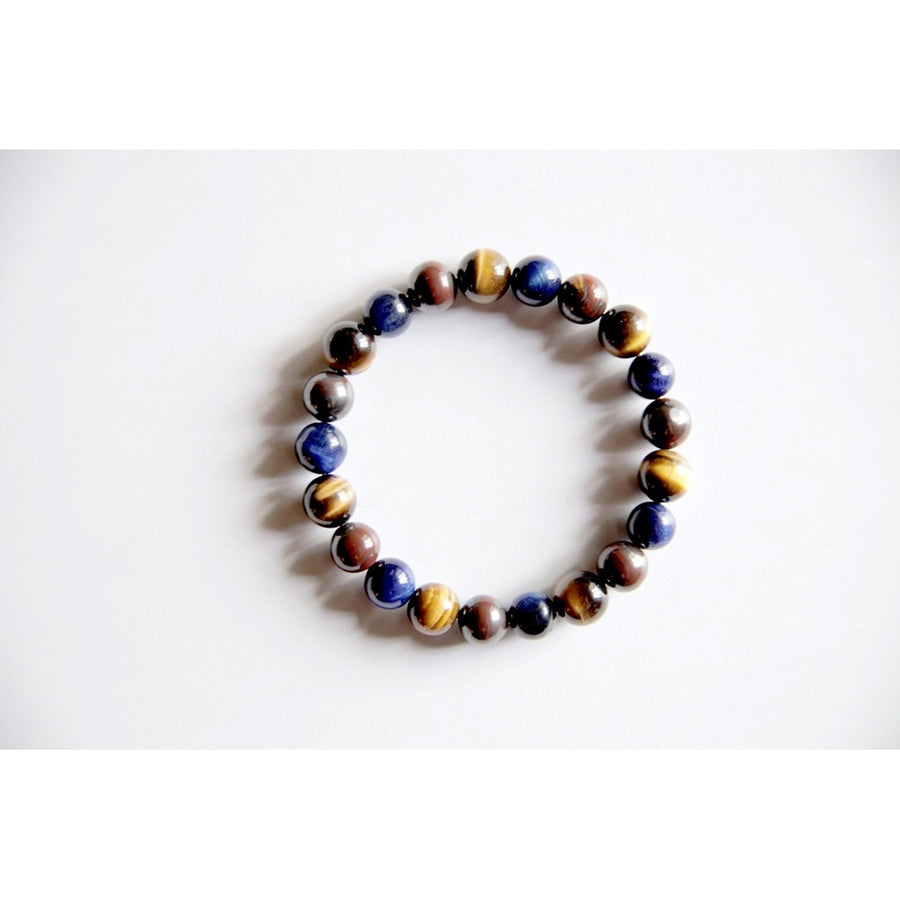 Strength & Confidence Bracelet ~ Blue Tiger Eye, Red Tiger Eye & Tiger Eye