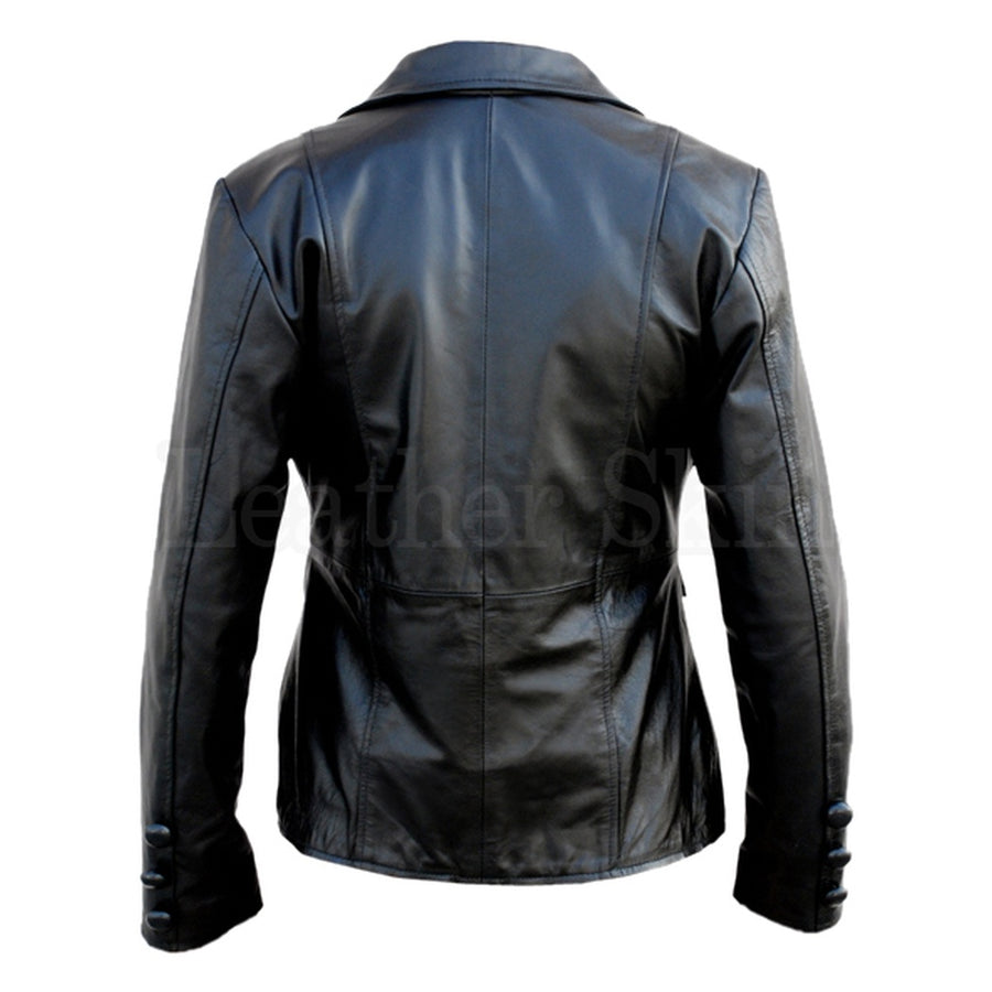 Women Black Punk Leather Jacket Womens