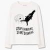 "Sweatshirt ""Stop Thinking, Start Drinking"""