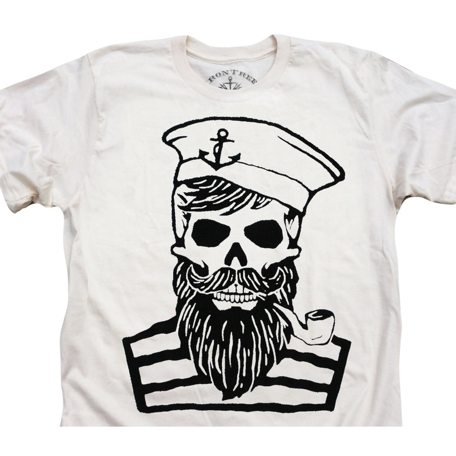 Blackbeards Ghost: Organic Fine Jersey Short Sleeve T-Shirt in Unbleached Natural Top