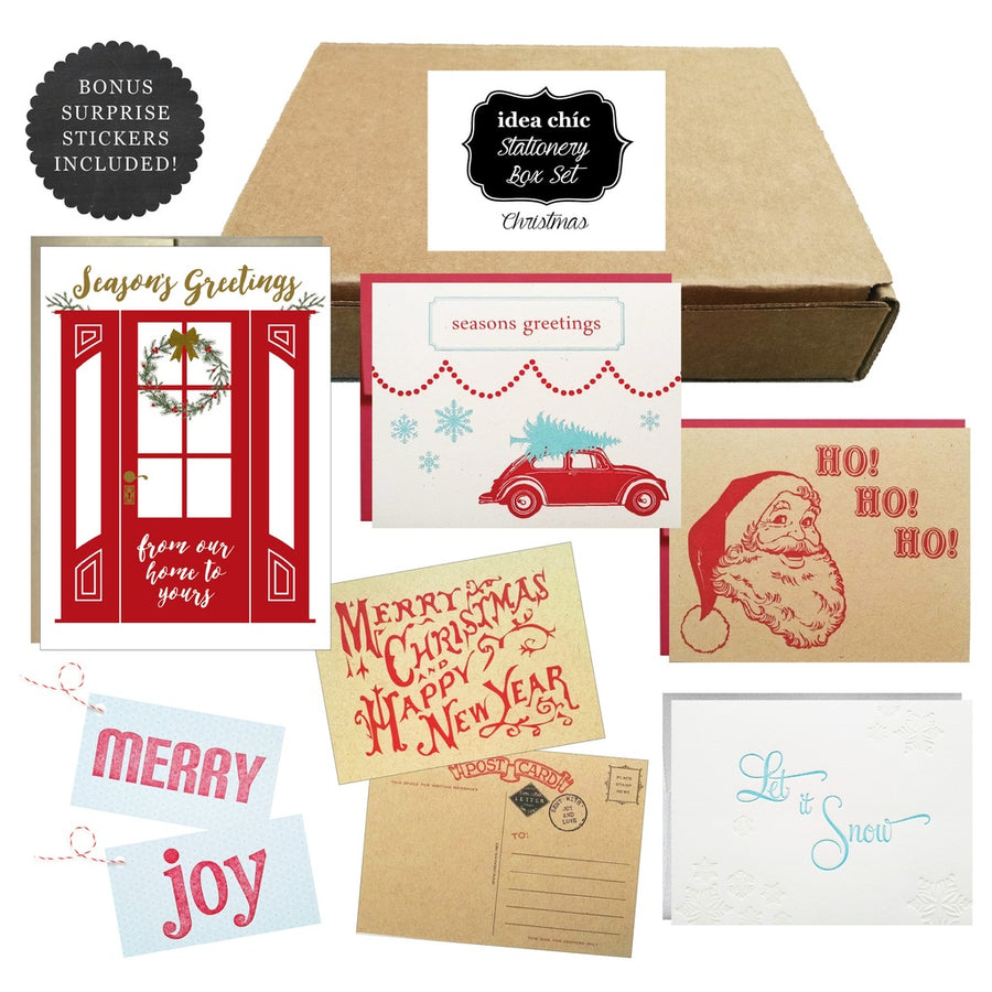 Christmas Holiday - Idea Chic Stationery Box Set