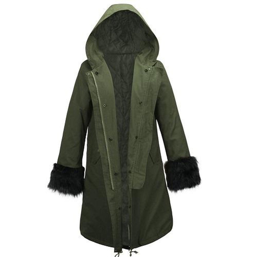 Fur Long Basic Parka